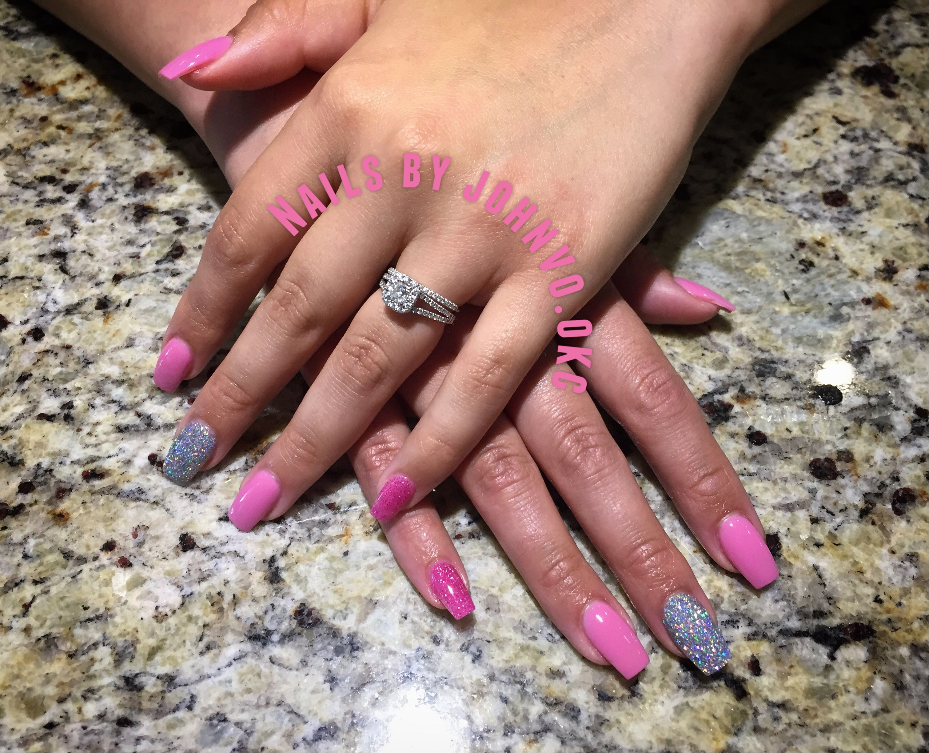 Dip powder ballerina shaped nails with tip extensions Nexgen N3 Club ...