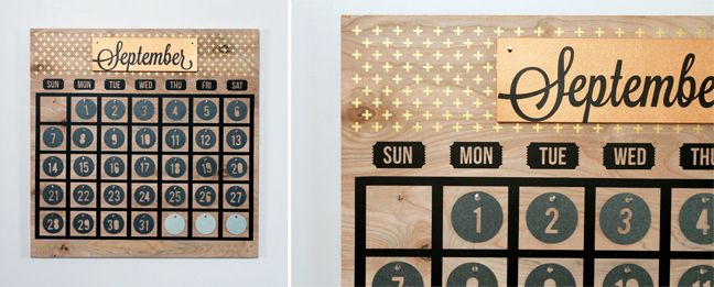 Silhouette America Blog Large Wooden Perpetual Calendar