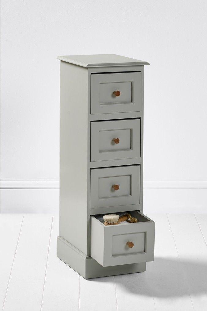 Next Wooden 4 Drawers Grey Drawers Storage Bathroom Storage