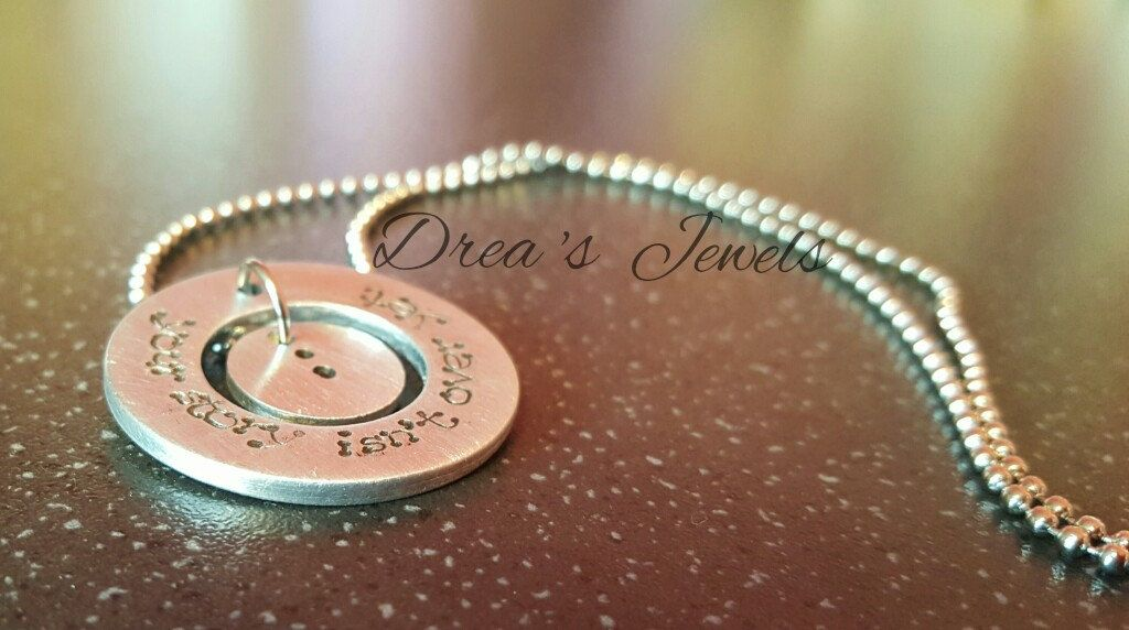 Project semicolon jewellery jewelry, Washer necklace, hand stamped necklace, handmade jewellery jewelry, 30% goes to the charity by DreasJewels1 on Etsy