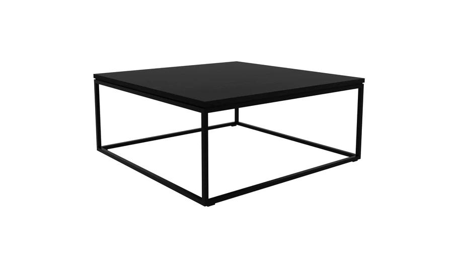 thin coffee table black oak black