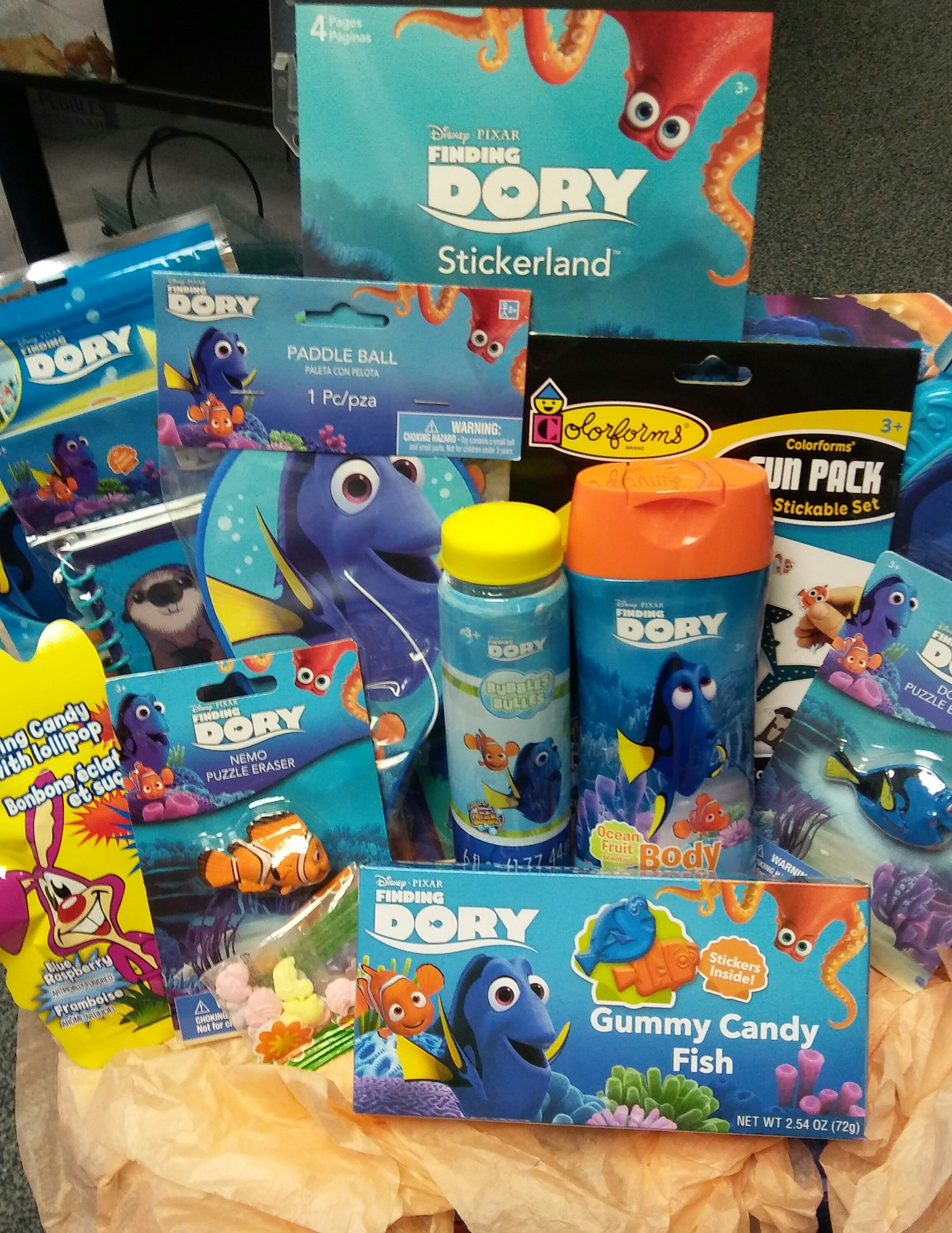 Finding Dory Gift Basket. Great for Easter or Birthday. Including ...