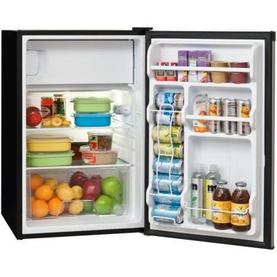 Frigidaire 4 5 Cu Ft Mini Refrigerator With Full Freezer In Silver Mist Energy Star Ffpe4522qm The Home Refrigerator Mini Fridges Mini Fridge With Freezer