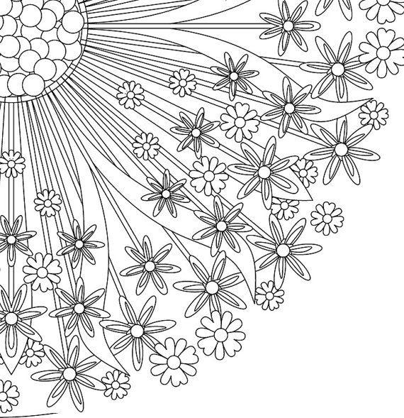 COLORING PAGE MANDALA - Mandala - Adult Coloring page - Printable ...