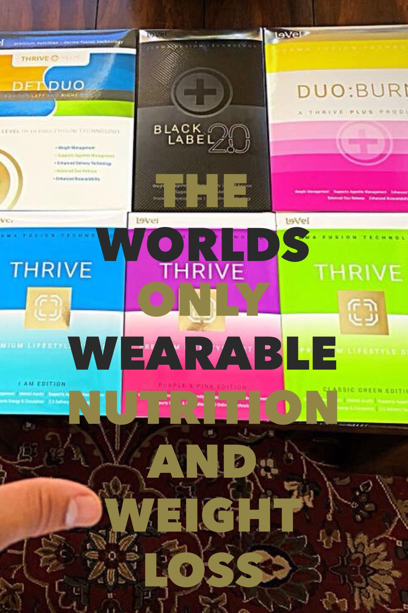 PREMIUM WEARABLE NUTRITION Energy Weight Loss Mental Clarity Mood Support Calming General Aches. It's a not a diet it's a lifestyle change.