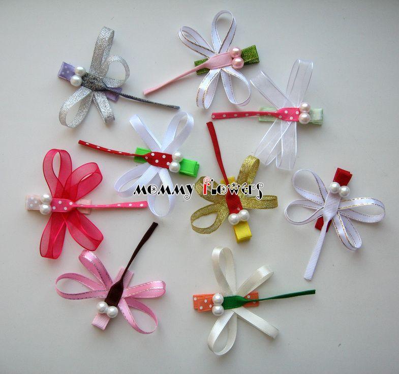 Заколки своими руками: бантики, цветы из атласных лент 69