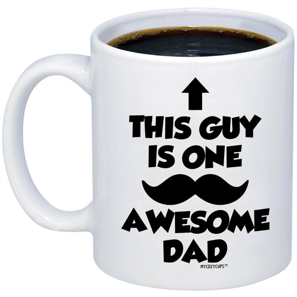 This Guy Is One Awesome Dad Coffee Mug Funny Fathers Day Coffee Mug 1325