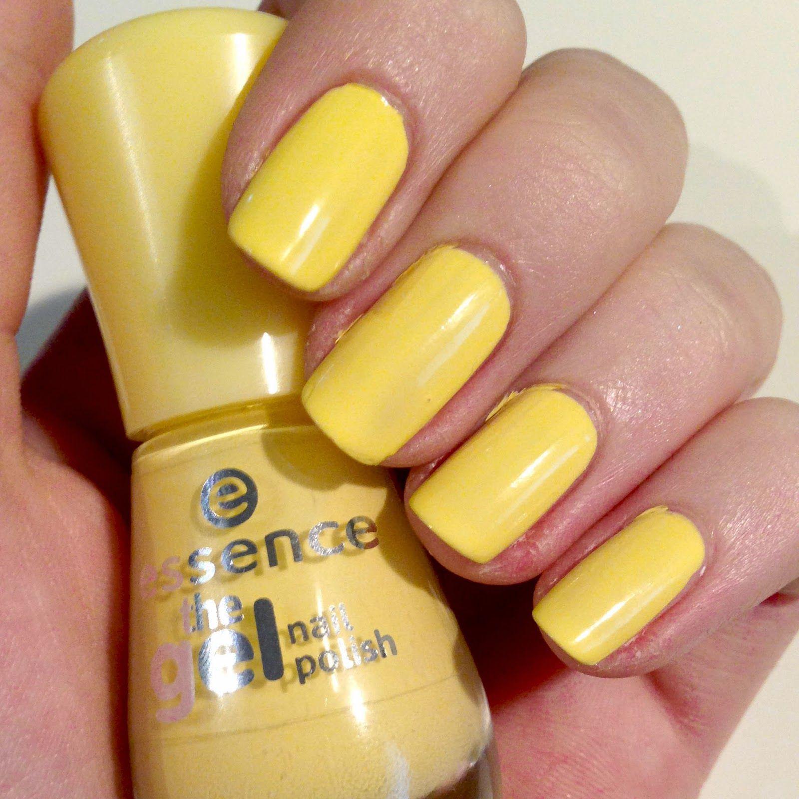 Yellow Nail Polish On: Essence The Gel Nail Polish Summery Light Yellow Colour