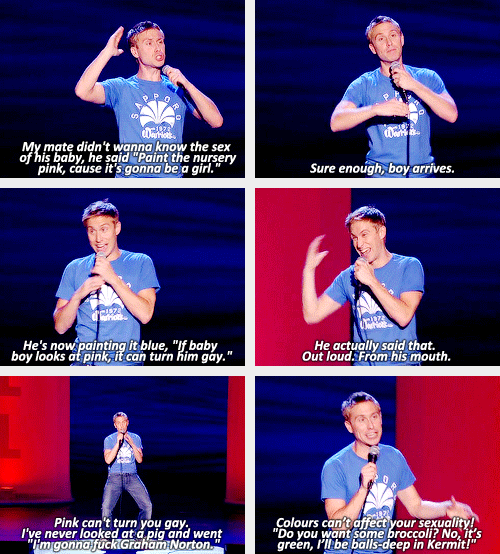 (gif set) Pink Comedians, Russell howard, Workout programs