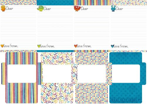 Printable KidS Letter Writing Set   Writing Paper Kids Letters