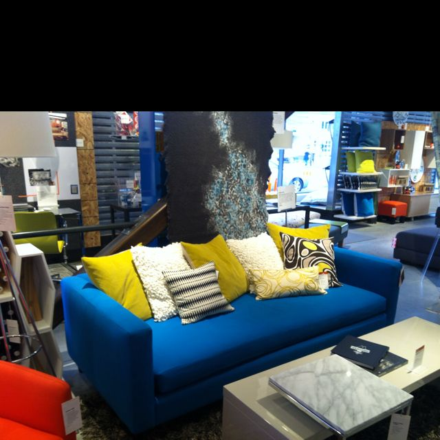 electric blue couch