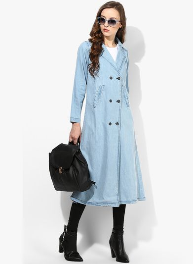 Buy Alia Bhatt For Jabong Outerwear Fashion Jean Trench Coat for ...