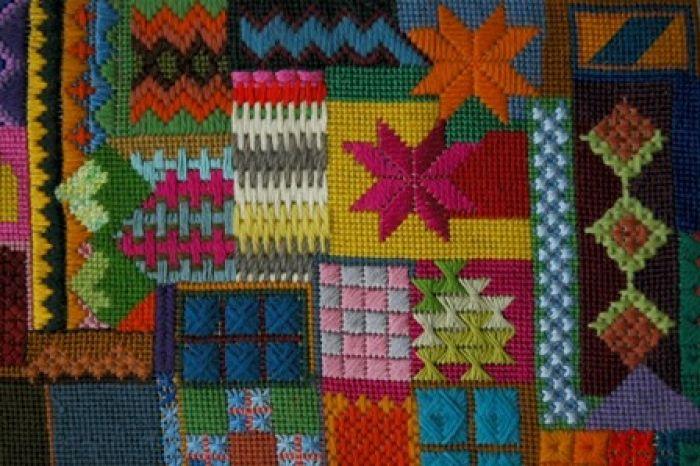 Canvaswork stitch sampler - Degree, Rabia Nazrari   Needlework ...