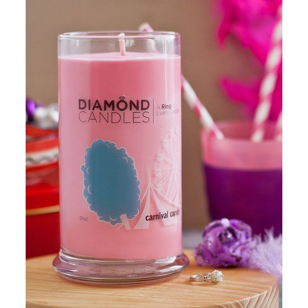 Diamond Candles Pink Carnival Candy Ring Candle Diamond Candles Candy Candle Pink Candles