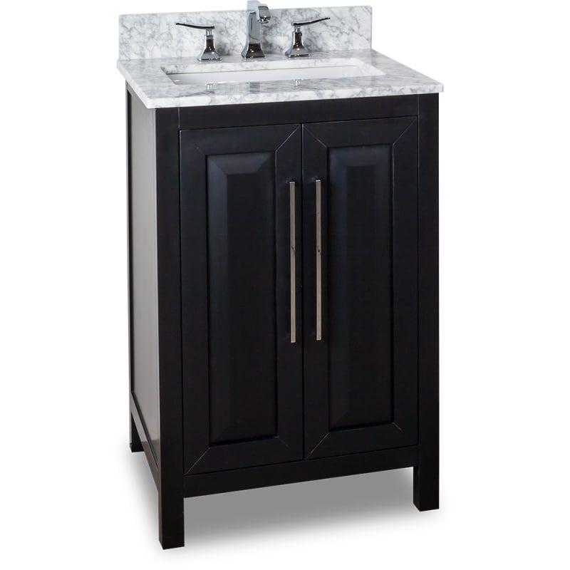 Jeffrey Alexander Van101 24 T Black Vanity Bathroom 24 Inch