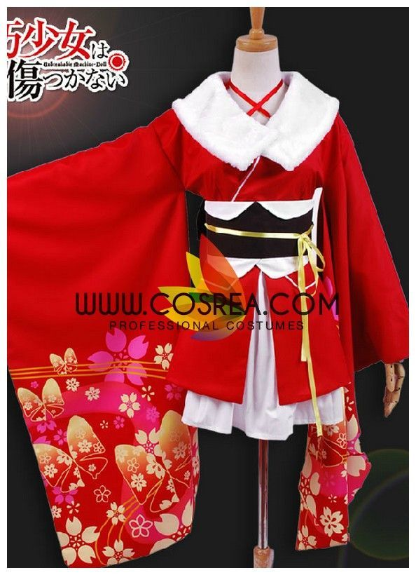 Vicwin-One Unbreakable Machine-Doll Yaya Red Kimono Cosplay Costume *** You  can get more details by clicking on the image.