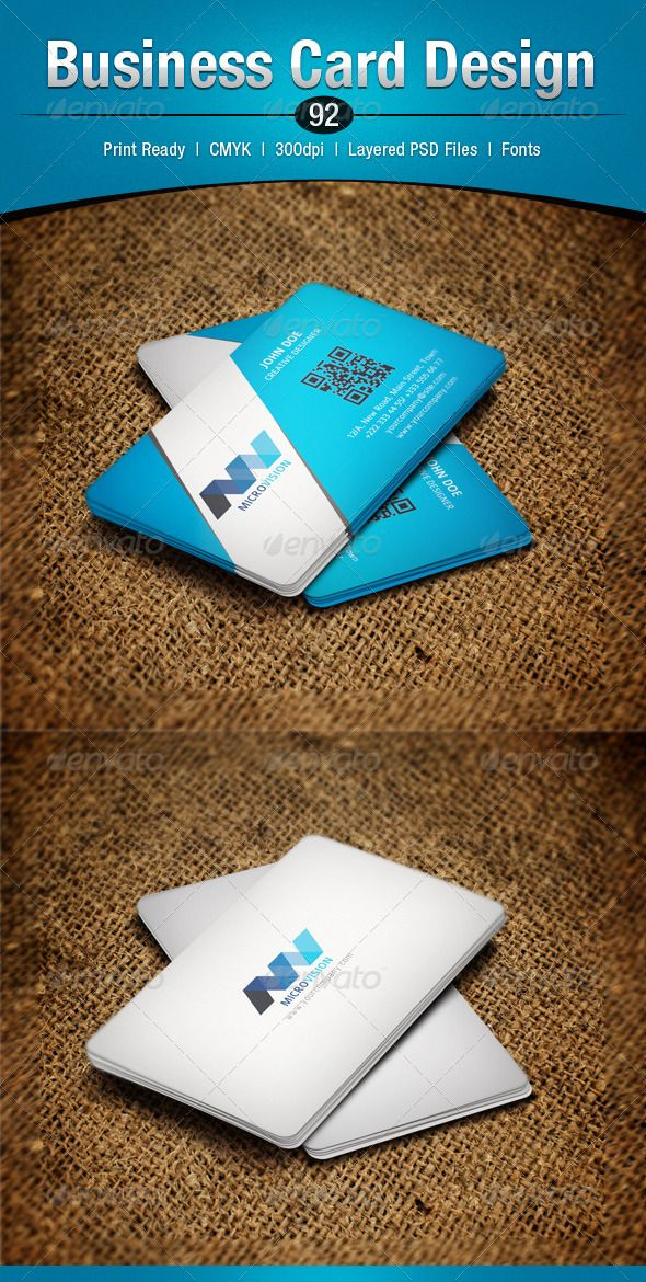 Business Card Design 92 | Business cards, Business and Buy business ...