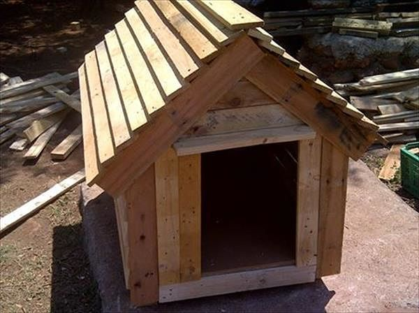 Caseta para perros con palets ideas para el hogar for Casetas para guardar cosas
