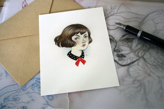 Postcards  Edith by Deerface on Etsy
