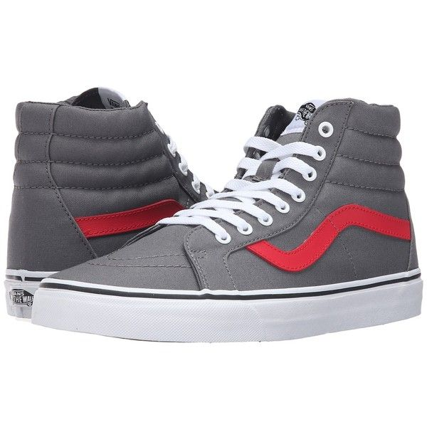 62e7f078ce Vans SK8-Hi Reissue ((Canvas) Tornado Racing Red) Skate Shoes ( 60) ❤ liked  on Polyvore featuring shoes