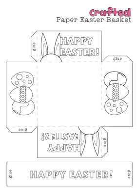 Free printable bunny easter basket easter pinterest easter colour in or design your own paper basket pronofoot35fo Images