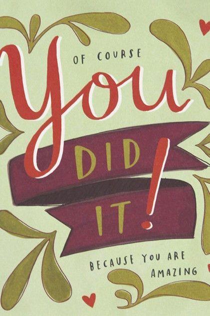 You Did It Card Feelin\u0027 Crafty Congratulations quotes