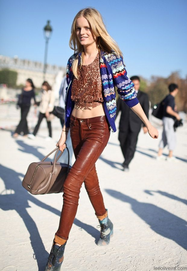 Hanne Gaby Odiele Street Style Eclectic Mixprint Fashion Eclectic Style Clothing
