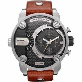 montre diesel 3 bar avec bracelet en cuir original bijoux montres. Black Bedroom Furniture Sets. Home Design Ideas
