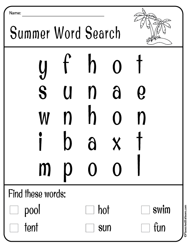 Kindergarten Preschool Summer Worksheets Free Printable Pdf Summer Worksheets Kindergarten Summer Worksheets Summer Words