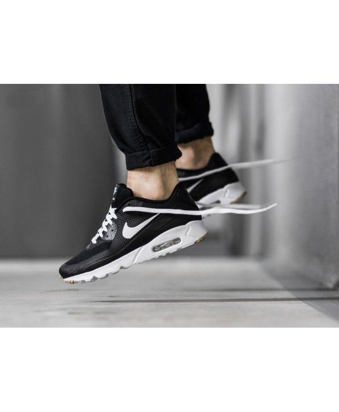 Nike Air Max 90 Ultra Essential Black White Gum Trainer | Nike air ...