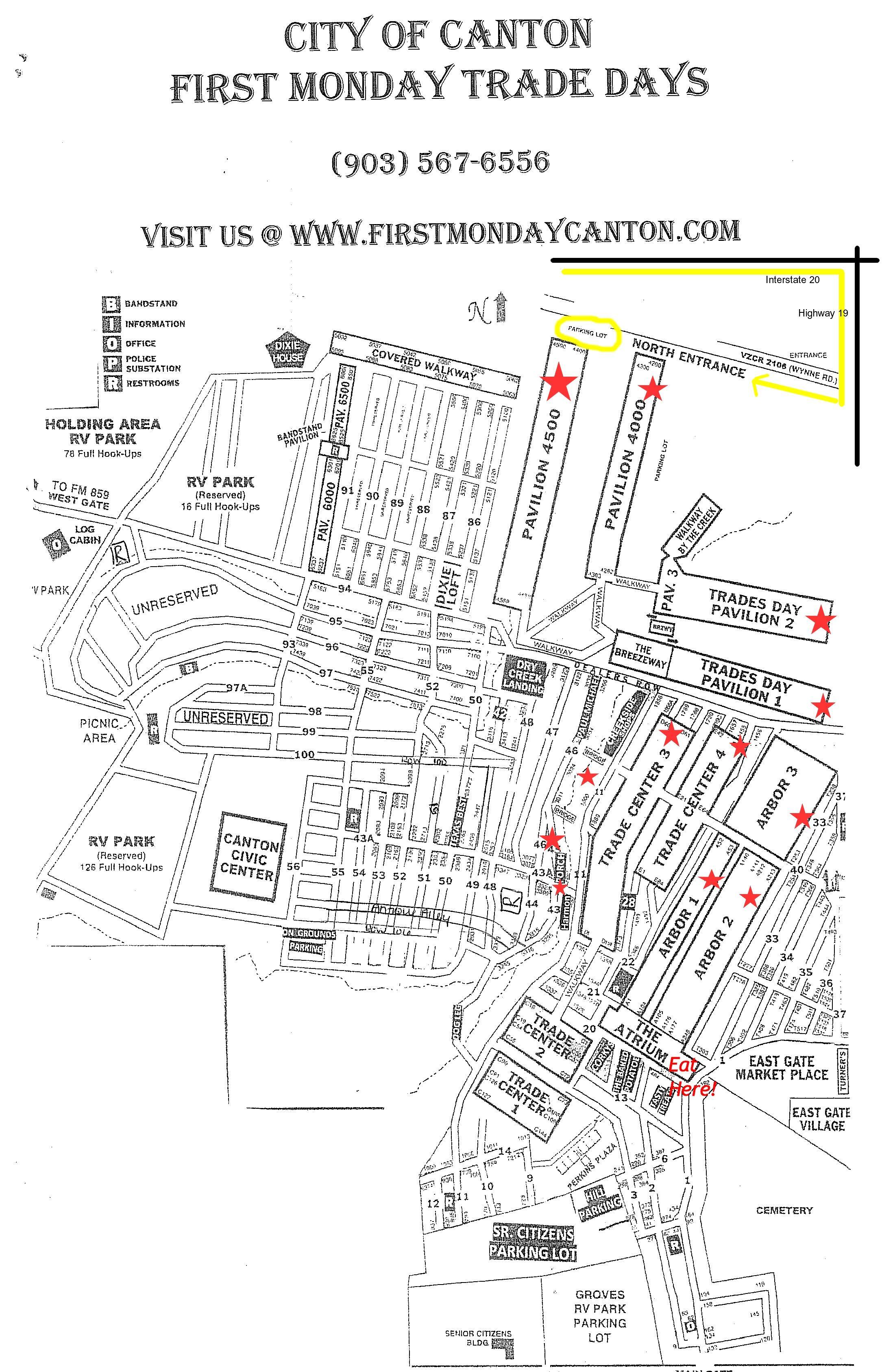 Tips when visiting Canton First Monday Trade Days | Dallas Moms Blog Canton Tx Map on