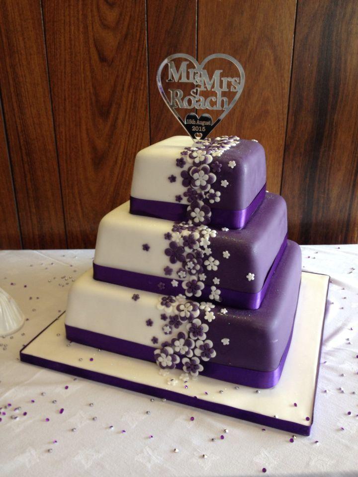 9657207193dad69b533a6a519e20d251g 720960 mer pinterest love wedding cakes cadbury purple wedding cake with bespoke topper junglespirit Images