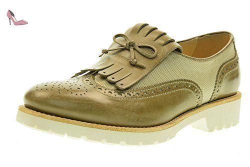 NERO GIARDINI faible inglesina des femmes sans P717192D / 406 lacets taille  37 Beige - Chaussures