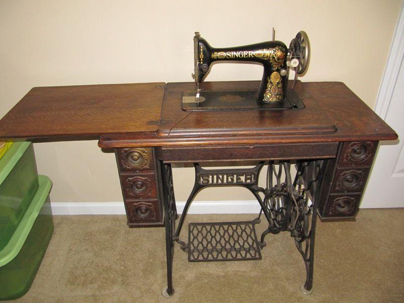 40 Singer Red Eye 40 Treadle Sewing Machine Cabinet W Fascinating Singer Sewing Machine 66