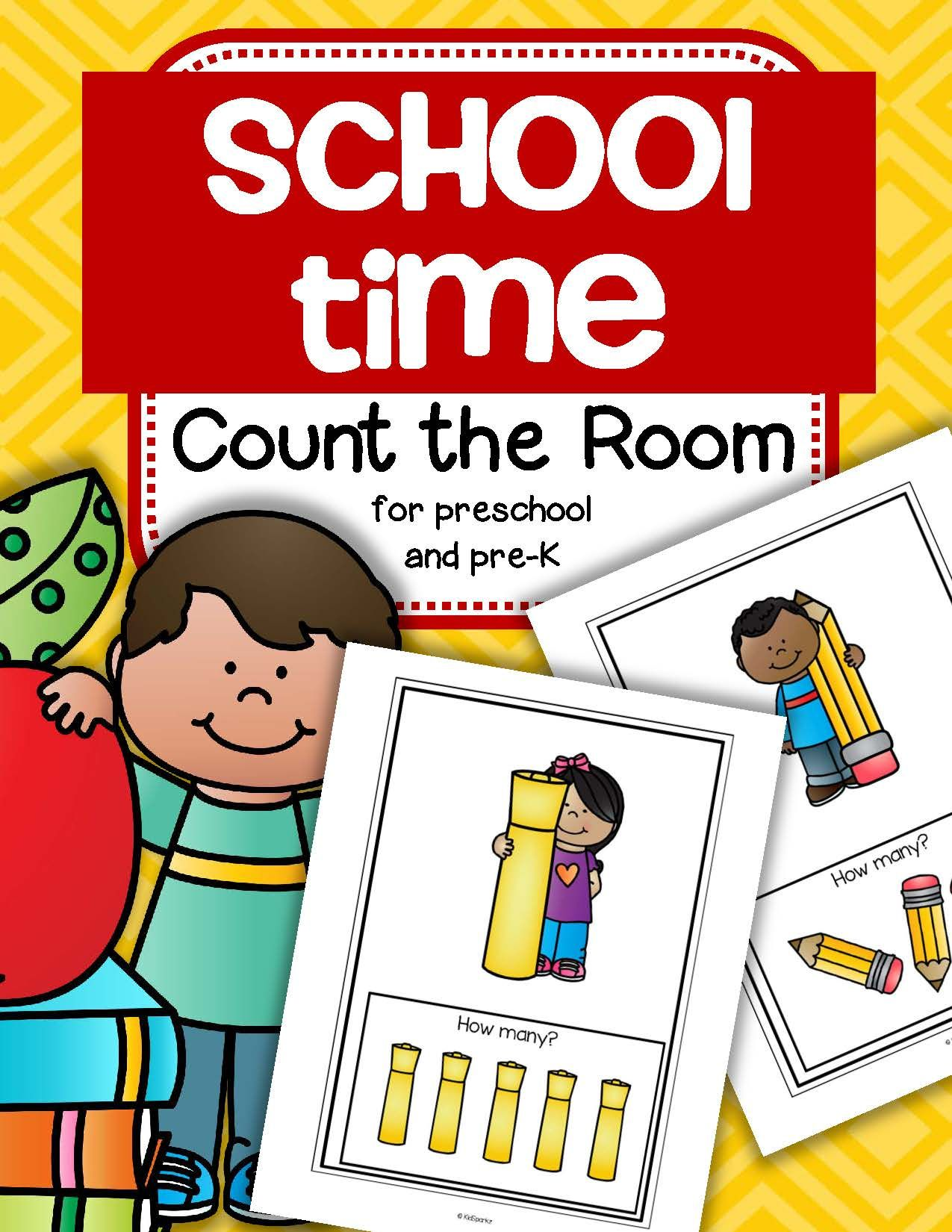 Back To School Count The Room For Preschool And Kindergarten Differentiated
