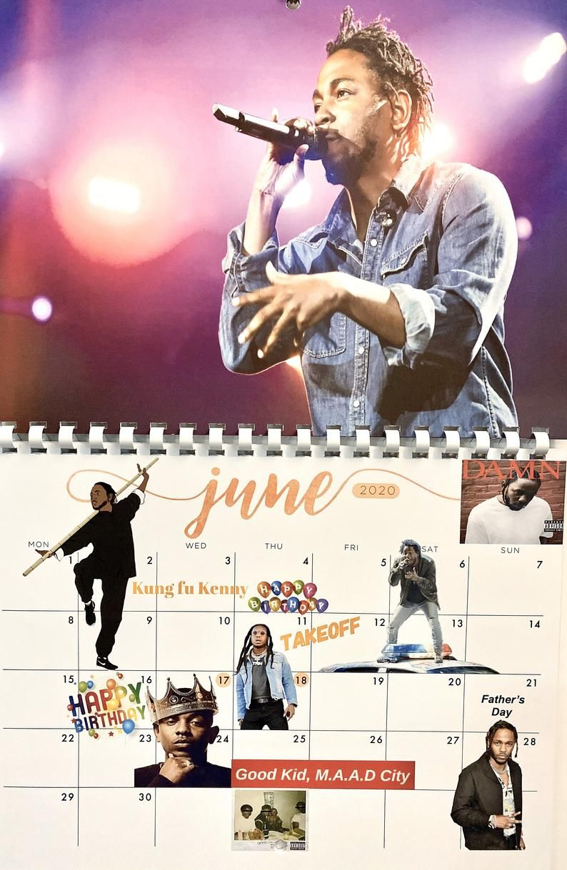Next Generation Of Hip Hop 2020 Calendar In 2020 Hip Hop Generation Kung Fu Kenny