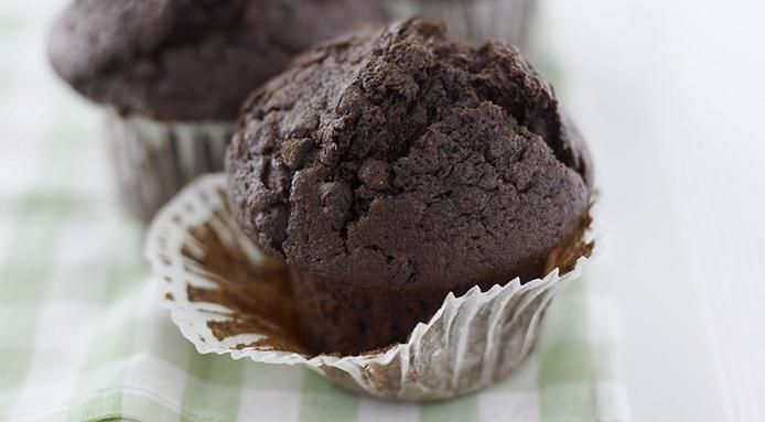 Muffin al cioccolato senza uova e senza burro
