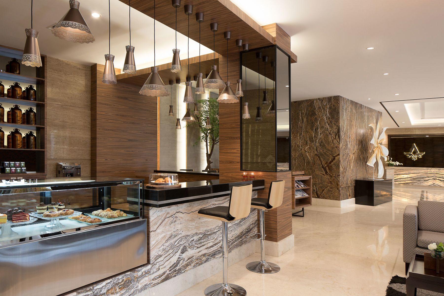 ayaka suites hotel coffee shop at lobby, karet pedurenan