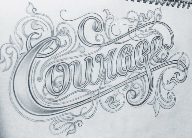 Fonts That Look Like Tattoos: Lettering Design, Creative