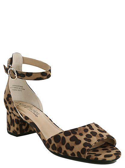 Leopard Print Block Heel Sandals, read