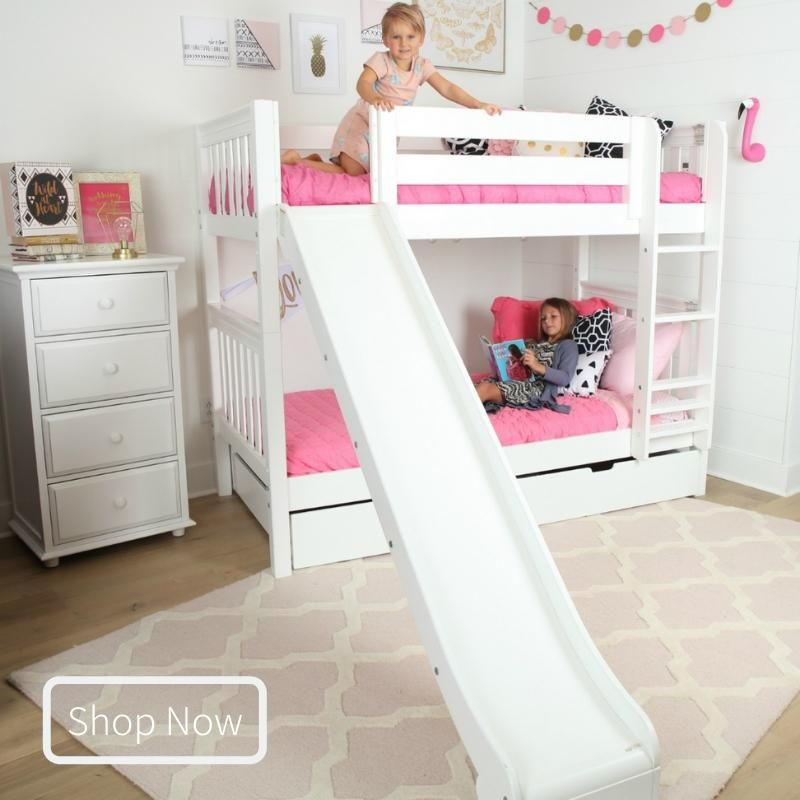 Twin Medium Bunk Bed With Slide Bunk Bed With Slide Bed With