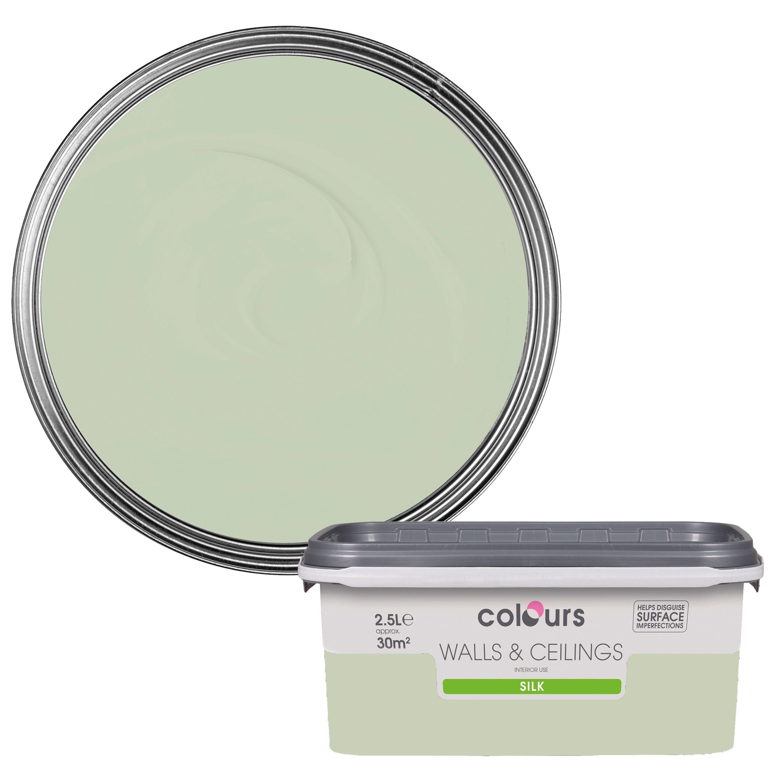 Colours Guava Green Silk Emulsion Paint 2.5L Departments