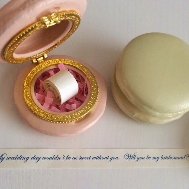Use Macaron Trinket Box from Urban Outfitters to ask bridesmaids to be in your wedding
