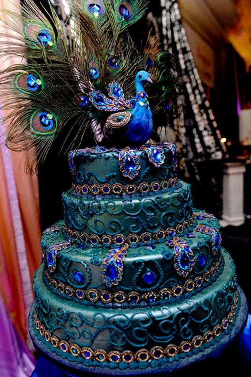 Peacock Wedding Cake Wedding Cake Birds Peacock Wedding Cake Peacock Cake