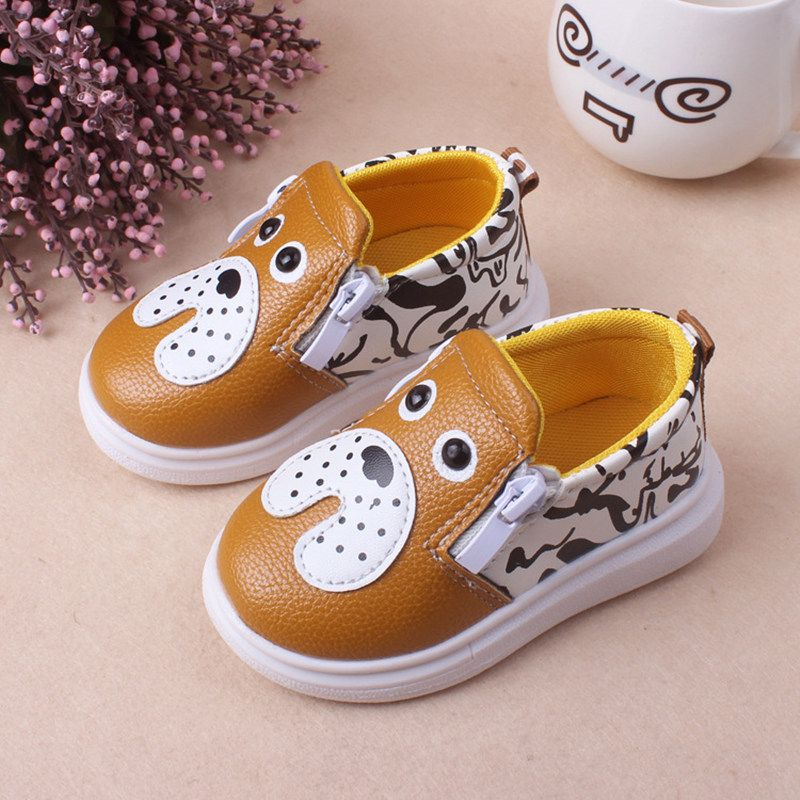Girls Soft Slippers with Dog Design Boys Childrens Kids