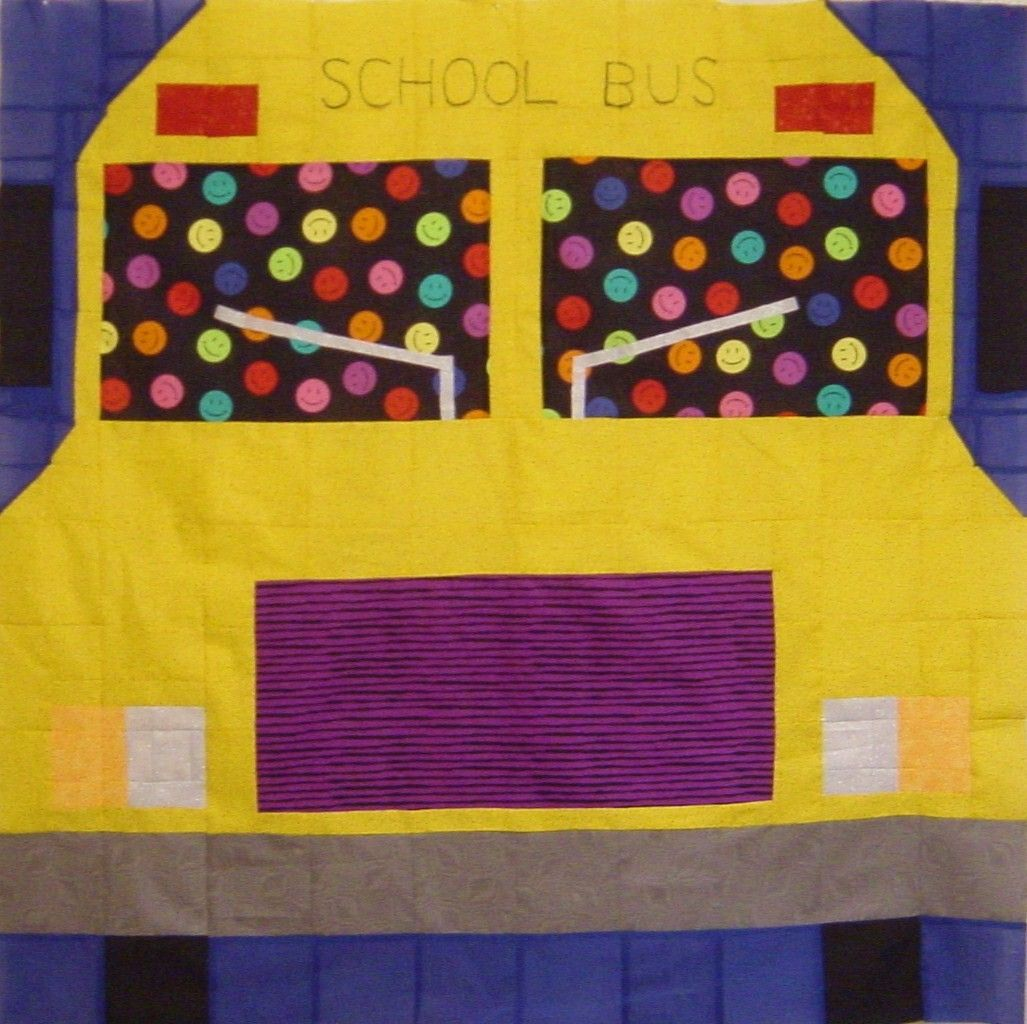 SCHOOL BUS Quilt/Wall Hanging Pattern Only by drab2mol on Etsy ...