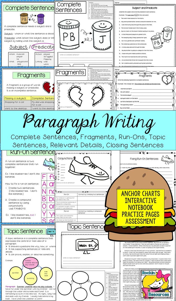 Paragraph Writing and Sentence Structure - How to Write a Paragraph ...