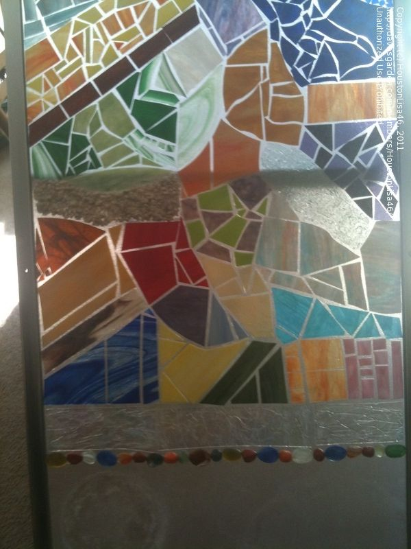 Trash to Treasure: Decorating my patio with repurposed materials - shower  door , 1 by