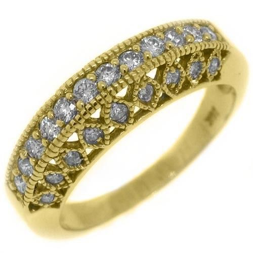 .68 Carat Brilliant Round Antique/Vintage Diamond Wedding Band