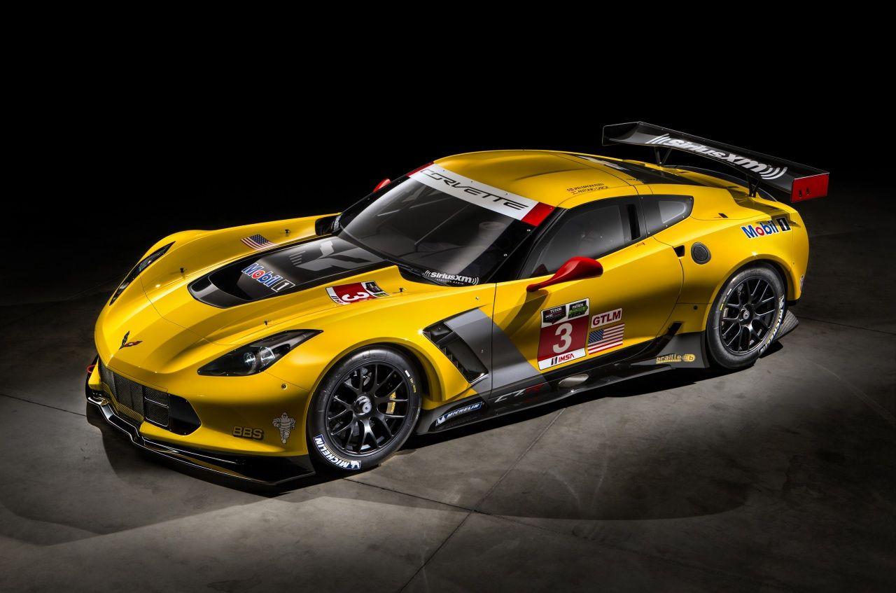 Chevrolet Tuning 2014 Corvette C7 R race car Jaune